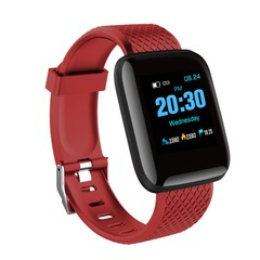 Smart Watches Blood Pressure Waterproof Fitness Tracker Heart Rate Monitor Smart Band Bracelet red one size