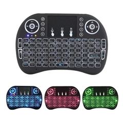 USB Wireless Keyboard Touchpad Air Mouse Play Game Remote Control For Smart TV Android TV BOX 3 Color Backlight 15
