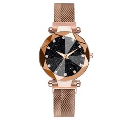 Genuine Women Luxury Watches Starry Sky Stainless Steel Watches Crystal Quartz Gifts Gold