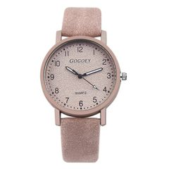 Women's Watches Fashion Leather Wrist Watch Women Watches Ladies Watch Gifts pink 22cm