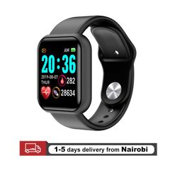 Smart Watches Sport Bluetooth Smartwatches Heart Rate Monitor Fitness Tracker black one size