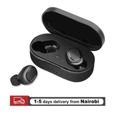 Bluetooth Earphones TWS Earbuds HiFi True Wireless Stereos Headsets Headphones Black With Charger Dock