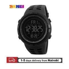 SKMEI Men's Watches Sport Watches Digital Watches Quartz Watches Waterproof  Watches Gifts black 25CM