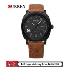 Curren Men Watches Fashion Sports Quartz Watches Leather Straps Watch Valentines Gifts black 28cm