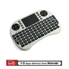 USB Wireless Keyboard Touchpad Air Mouse Play Game Remote Control For Smart TV Android TV BOX White 15