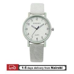 Gogoey Brand Women Watches Leather Straps Quartz Luxury Watches Valentines Gifts white 22cm