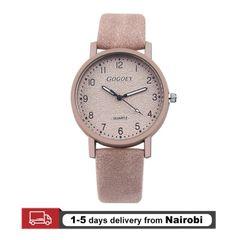 Gogoey Brand Women Watches Leather Straps Quartz Luxury Watches Valentines Gifts pink 22cm