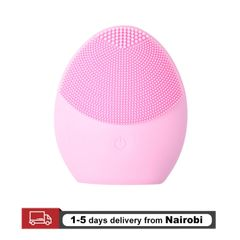 Women Face Silicone Cleaning Brush Electric Face Cleanser Skin Care Deep Washing Massage Brush Gifts pink