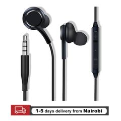 Sport Earphones Super Bass 3.5mm Earbuds Noise isolating In-Ear Headsets With Mic black