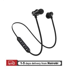Bluetooth Earphones Magnetic Headphones Wireless Headset Sports Bass With Mic For All Smart Phones gray