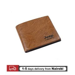 Men Wallets Pu Leather Jeep Wallets Classic Short Multi-card Purse Card Holders Gifts Light Brown 10*11.5*0.5