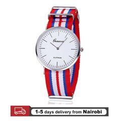 Men Watches Fashion Casual Quartz Watch Geneva Fabric Nylon Canvas Military Watches Gifts 5 28cm