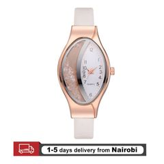 Women's Watches Leather Strap Romantic Bracelet Clock Rhinestone PU Sport Elegant Watches white 23cm