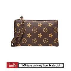 Women Wallets Handbags Clutch Coin Purse Smart Phone Pocket Money Bag Gifts Brown 18cm *10cm*2cm