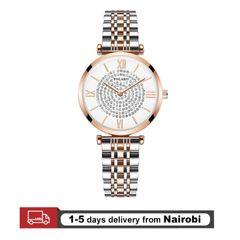 Women Watches Diamond Design Stainless Steel Quartz Elegant Watches Romantic Valentines Gifts Rose Gold