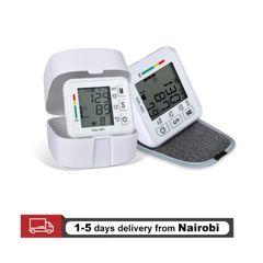 Digital Blood Pressure Monitor Sphygmomanometer Pulse Rate Heart Beat Rate Meter Device Health Care WHITE