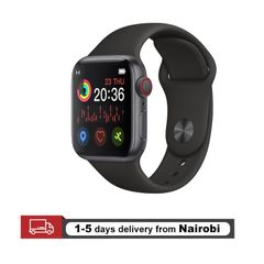 New Smart Watches Full Touch Support Bluetooth Call Music Play Men Women  Smart Bracelets iWatch black one size