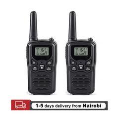 2PCS Mini Handheld Walkie Talkie Portable High Power VHF Two Way Ham Radio Communicator Transceiver Black