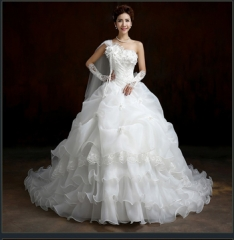 wedding dress  Flowers wedding dress/Free gift to you a veil white s