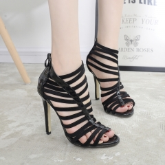 Mirror hand made elegant high-heeled sandals FD767-4 black 35