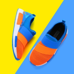 Children comfortable breathable high elastic shoes 1702V orange 38