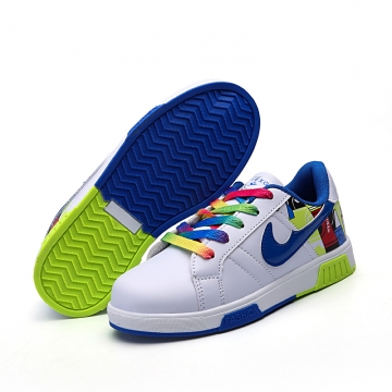 Boys and girls breathable casual shoes 5650 blue 33