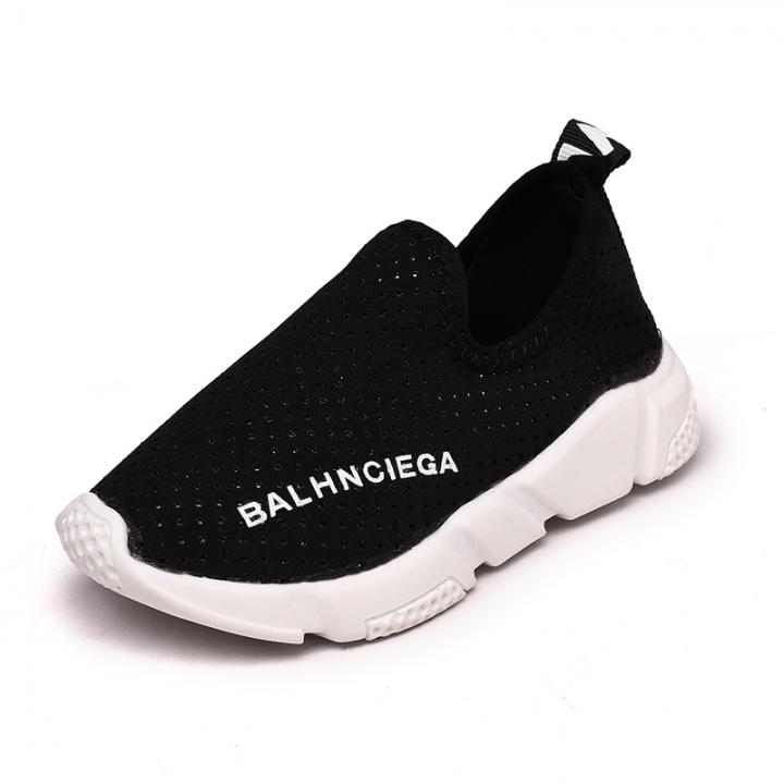 Children's shoes Baotou children hollow casual shoes 888 black 32