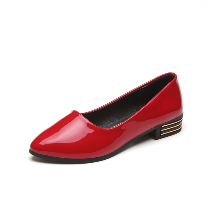 Women's shoes shallow mouth pointed flat with flat shoes 203 red 38