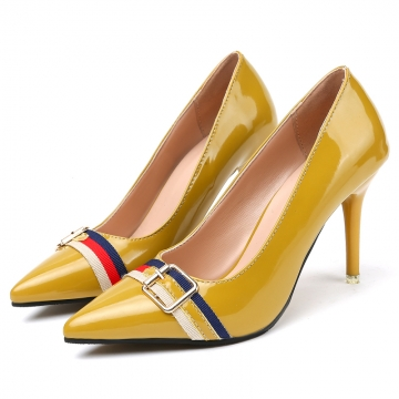 Women's stiletto heels with pointy, all-color casual shoes LD&b16 yellow 36