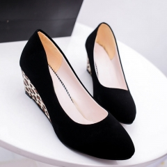 High Heels Shoes Fashion Ladies Shoes  Woman Platform Black Leopard Pumps Shoes Women903 black 35