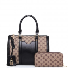 Women handbag Classic two-piece boston bag black one size