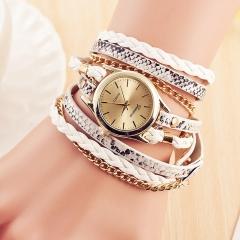 Brand Fashion Ladies Watches Leather Bracelet Female Quartz Watch Women Thin Casual Strap Watch White