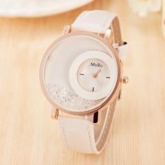 Women Creative Watches Geneva Brand Fashion Ladies Watches Leather women Analog Quartz Wrist Watch white