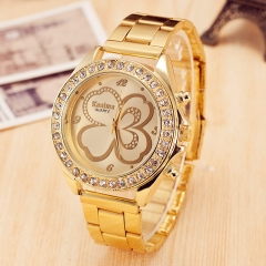 Diamond-encrusted Bracelet Women Watch Luxury Gold Brand Watch Girl Dress Party Quartz Wristwatches gold