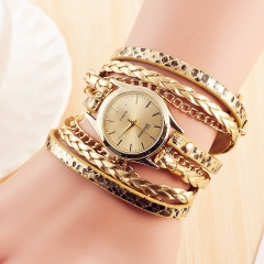 Valentines Gift Ladies Watches Leather Bracelet Female Quartz Watch Women Thin Casual Strap Watch gold