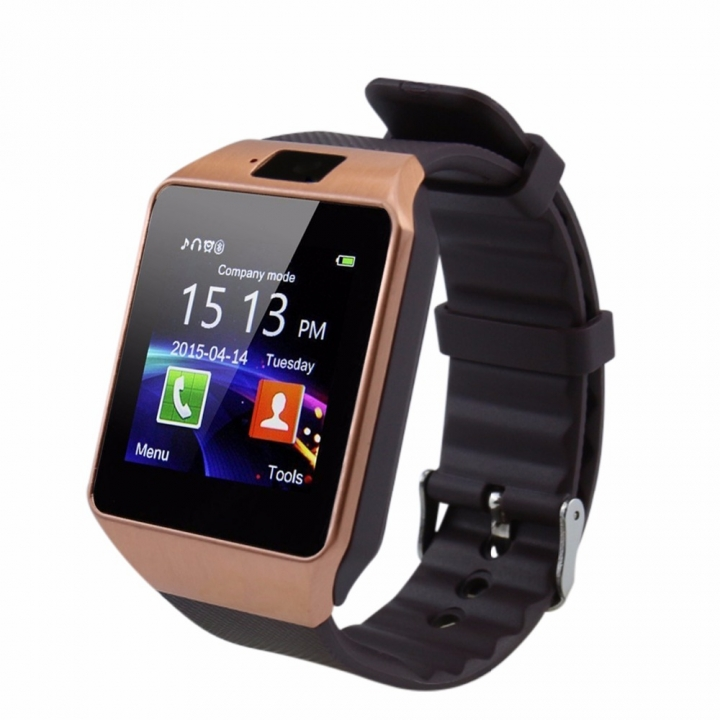 Bluetooth Smart Watch DZ09 Android Smartwatch Phone SIM For Android Tecno Samsung Valentines Gift gold one size