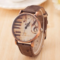Luxury Brand Quartz Women Watches Brand Retro Leather Men Fashion Wrist Watch Gray