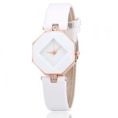 Leather Fashion Brand Bracelet Watches Women Ladies Casual Quartz Watch Crystal Wrist Watch brown white