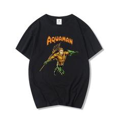 Fashion Aquaman Costume Mens Short Sleeve Cottton O-Neck T-shirt Brand Clothing