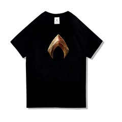 New Men's DC Superhero Aquaman Pattern Round Neck Women Cotton T-Shirt S-3XL