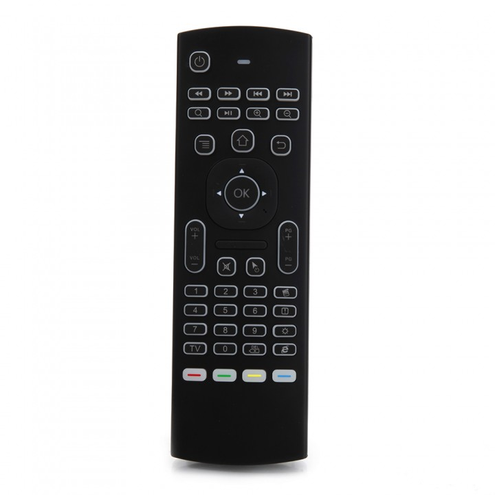 MX3B 2.4GHz 81 Key Backlight Wireless Fly Air Mouse Remote for Android TV BOX black one size