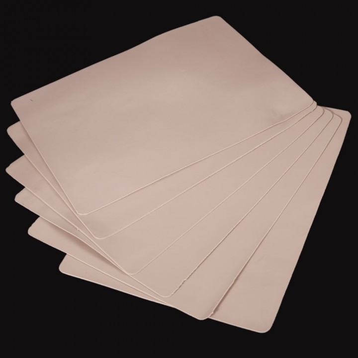 """Pro 5Pcs Plain Blank Tattoo Practice Skin for Needle Machine Supply 8""""x 6"""" as picture"""