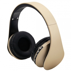 Wireless Bluetooth Stereo Headset Foldable Headphone Earphone for iPhone Samsung Champagne