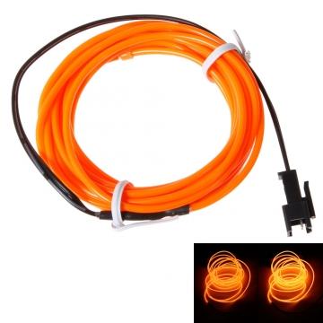 Kilimall: Orange Flexible Neon Light 3m Glow EL Wire LED Strip Tube ...