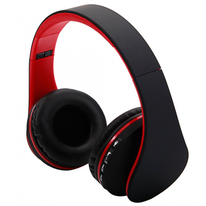 Wireless Bluetooth Stereo Headset Foldable Headphone Earphone for iPhone Samsung Red