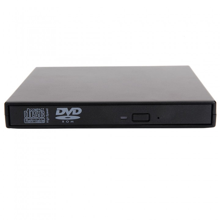 USB 2.0 Combo Laptop DVD CD-RW CD±RW Player External Drive for PC black one size