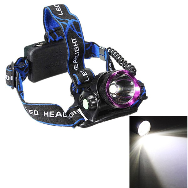 Bright 8000LM LED Rechargeable Headlight Head Lamp Flashlight +Battery+Charger blue one