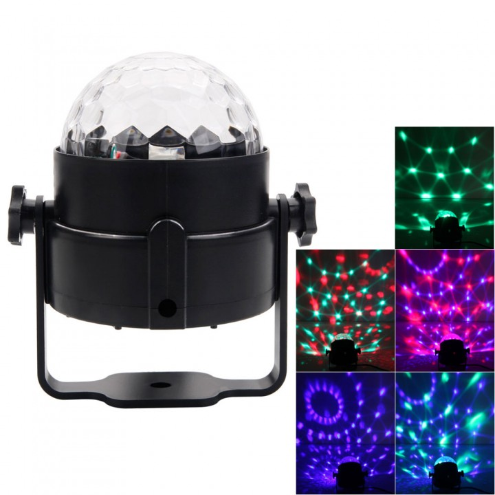 LED RGB DJ Disco Magic Ball Crystal Xmas Party Stage Lighting w/ Remote Control rgb one 3w