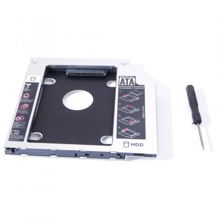 2nd HD HDD SSD Hard Drive Caddy for Dell Latitude E6420 E6520 E6320 E6430 E6530 black one size