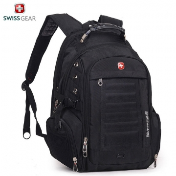 "Swiss Gear Men 15"" Laptop Backpack Computer Notebook Outdoor School Travel Bag black one size"